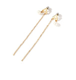 Simple Long Tassel Earrings Earrings  imitation pearl ear line personality