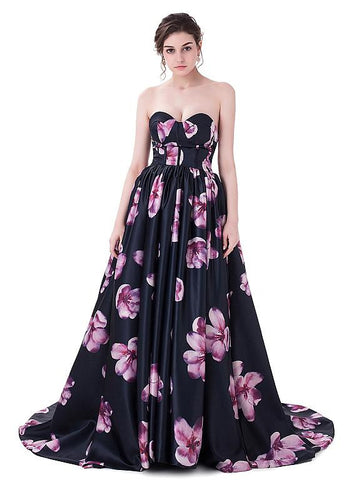 Exquisite Flora Prom Dresses With Pleats
