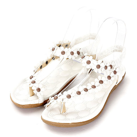 Y Shape Splice Clip Bohemia Toe Flat Slip On Sandals