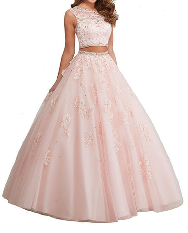 Two Piece Sweet 16 Quinceanera Dress