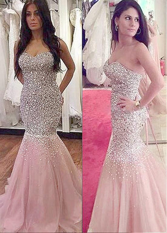 Mermaid Evening Dresses With Beadings