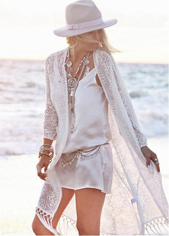 Lace Captivating Beach Cover-Ups