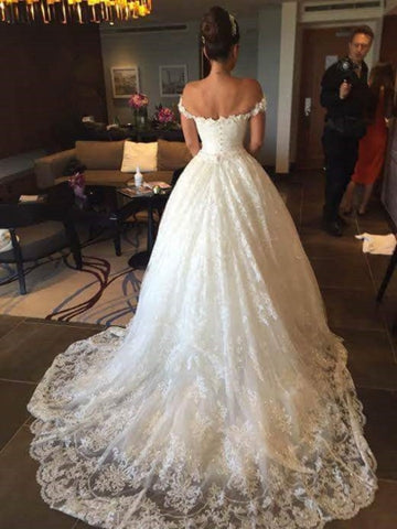 Ball Gown Court Train Wedding Dress