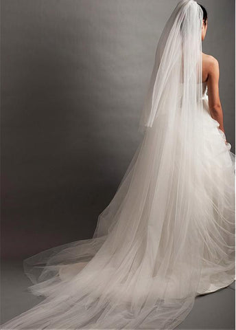 Ivory Tulle Two-tier Veil For Your Glamorous Wedding Dress