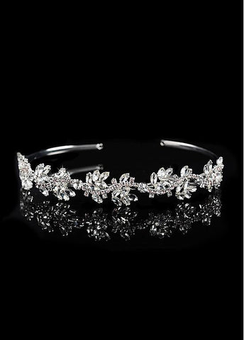 Elegant Alloy Wedding Tiara With Rhinestones