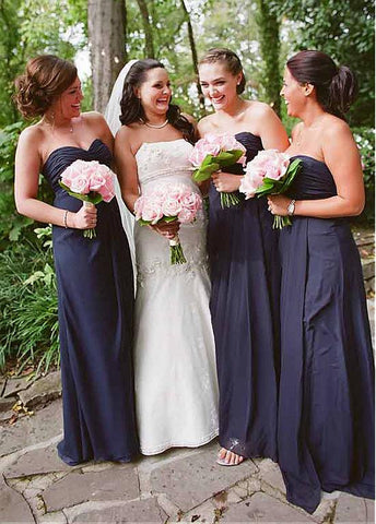 Attractive Chiffon Sweetheart Neckline A-line Bridesmaid Dresses