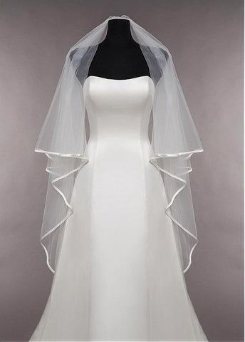 Beautiful Tulle Two-tier Veil Matching Your Elegant Wedding Dress