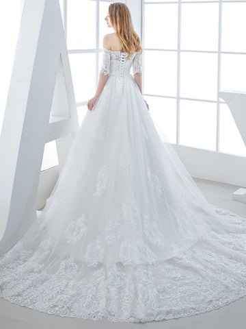 Sweetheart Tiered Mermaid Floor-Length Wedding Dress