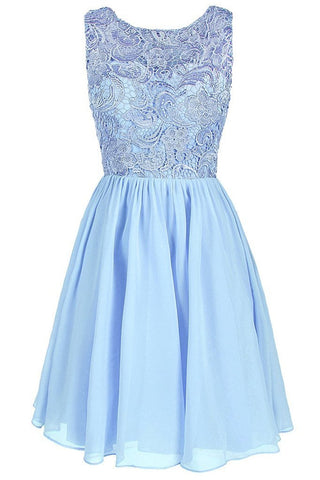 Lace Bridesmaid Formal Short Homecoming Dress