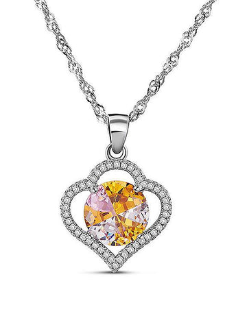 Heart Pendant  925 Sterling Silver Necklace