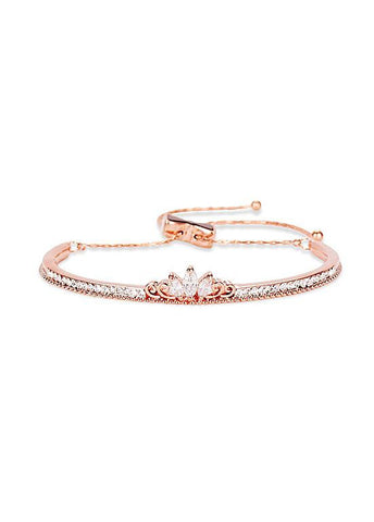 Zirconia Crown 18K Gold Plated Arch Bracelet