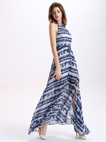 Sexy Splited Halter Women Maxi Dress