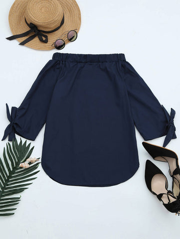 Off The Shoulder Longline Blouse