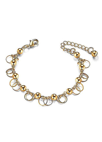 Beads and Circles Alloy Bracelet