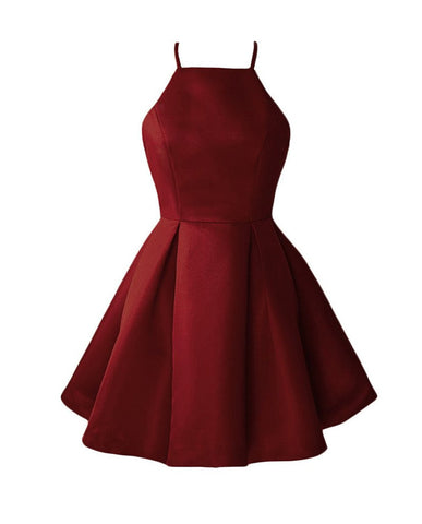 Red Homecoming Dresses Mini Short Cocktail Party Dress