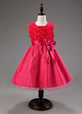 Charming Organza Jewel Neckline A-line Flower Girl Dresses With Bowknot