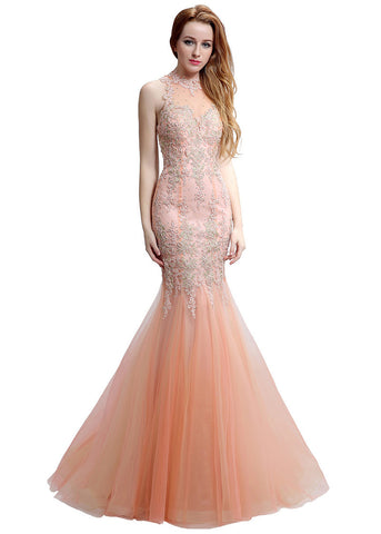 Illusion Mermaid Evening Dress