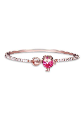 Austria Crystal 925 Sterling Silver Bangle