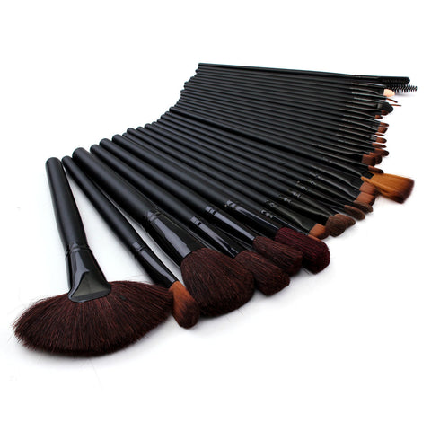 Clearance 32 Pcs Makeup Brush Set Black Eyeshdow
