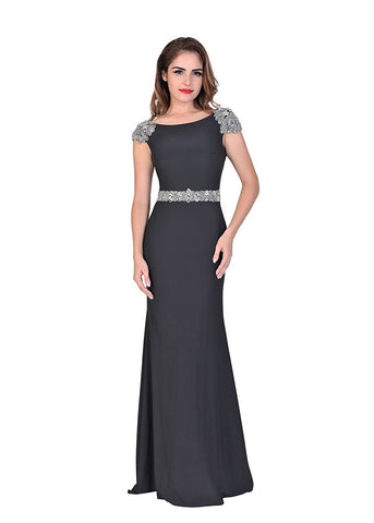 Black Formal Evening Gowns Backless 2017