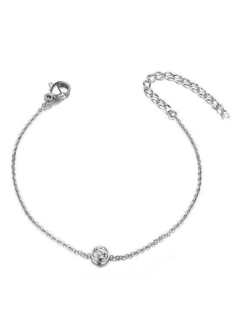 Simple Elegant Sterling Silver Bracelet