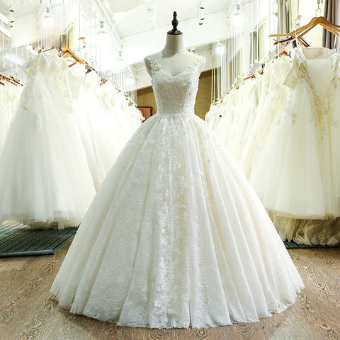Sweetheart Neck Lace Wedding Dress