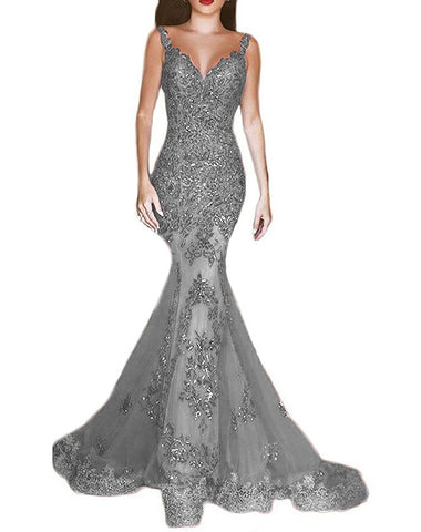 Sequins Mermaid Evening Dresses