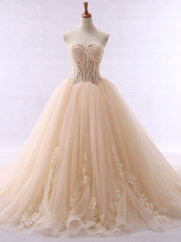 Ball Gown Color Wedding Dress