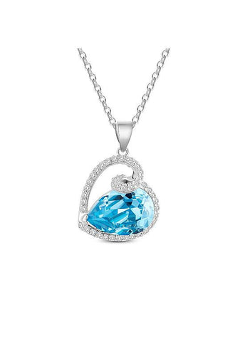Blue Sweet Heart Necklace