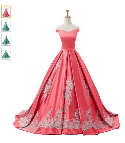 Ball Gown Appliques Quinceanera Prom Dresses