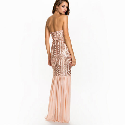 Fashion Sexy Mermaid Sequined Tulle Dress