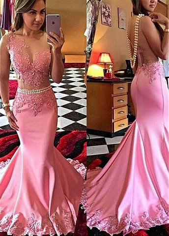 Mermaid Evening Dresses With Lace Appliques