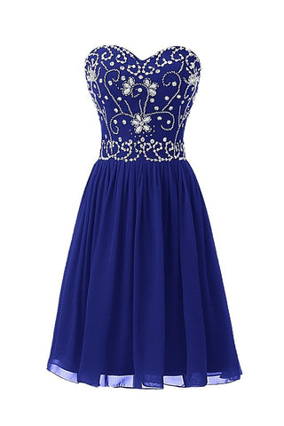 Short Beading Prom Homecoming Party Dresses for Juniors