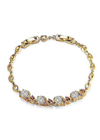 18K Gold Plated Alloy Bracelet Charming