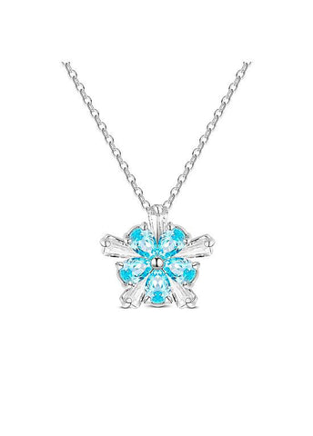 Cute Blue Snowflake Necklace