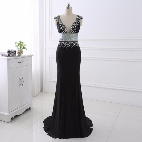 Sexy New Arrival Black Prom Dresses 2018 Black Formal Dresses For