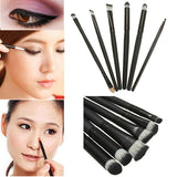 6 Pcs Eyeshadow Eyeliner Nose Cosmetics Brush set