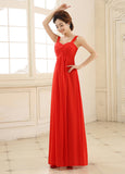Red Elegant Chiffon Sweetheart Neckline A-Line Evening Dress