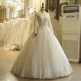 Lace long Sleeve Ball Gown Wedding Dress