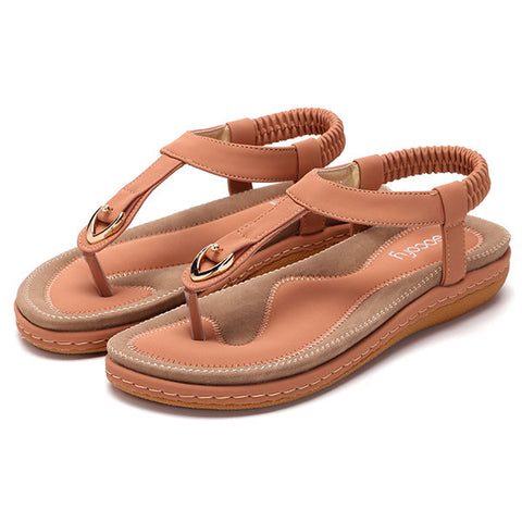 Fashion Comfortable Elastic Clip Toe Flat Beach Sandals