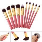 10Pcs Blush Contour Foundation Cosmetic Makeup Brushes Set Face Powder
