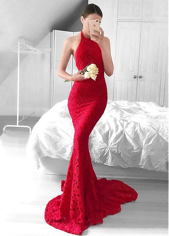 Backless Mermaid Evening Dress
