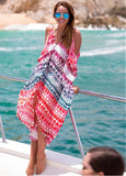 Colourful Print Beach Dress
