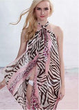Animal Print Colorful Beach Shawl