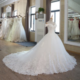 Ball Gown Vintage Muslim Plus Size Bridal Dress