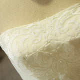 Lace Vintage Strapless Princess Wedding Dress