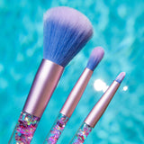 7Pcs Glitter Mermaid Liquid Handle Makeup Brushes Set