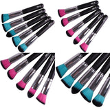 5Pcs Makeup Eye Shadow Brush Soft Brush Holder Set