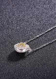 Round Pendant 925 Sterling Silver Necklace