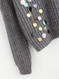 New Arrival Sequin And Chain Embellished Jumper